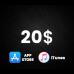 App Store & iTunes US $20