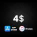 App Store & iTunes US $4