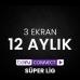Digiturk Bein Connect Süper Lig 12 Aylık ( 3 Ekran )