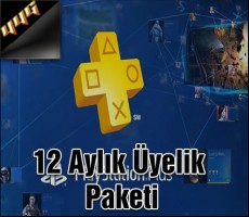 Playstation Plus PSN Network TR 12 Ay