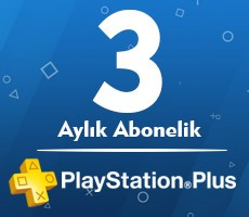 Playstation Plus PSN Network TR 3 Ay