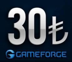 Gameforge 30 TL EPin ( Bütün Gameforge oyunlarında Geçerlidir )