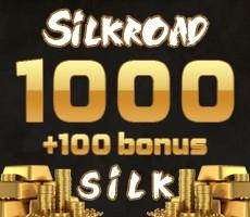 SilkRoad 1000 Silk + 100 Silk bonus