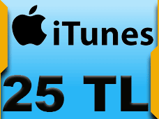 25 TL AppStore iTunes Bakiye