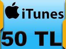 50 TL AppStore iTunes Bakiye