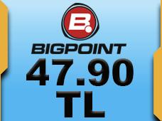 Bigpoint 47.90 TL lik Kupon