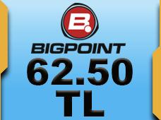 Bigpoint 62.50 TL lik Kupon