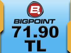 Bigpoint 71.90 TL lik Kupon