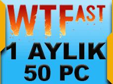 WTFast Advanced 1 Aylık 50 Pc